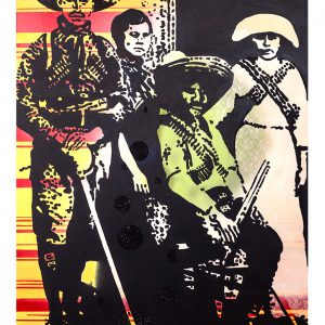 Ghosts of the Revolution is about the women and men who fought in the Mexican Revolution around 1910. I chose this image to highlight how women fought equally with men in the struggle for rights.